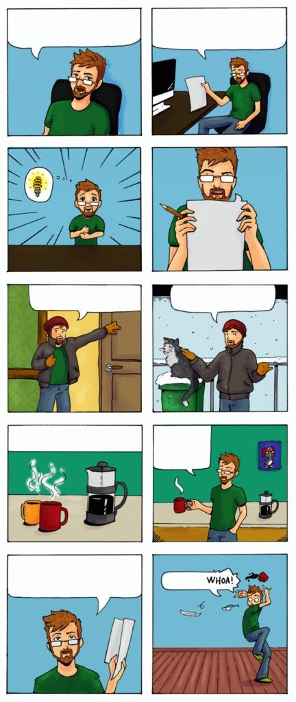Colored WIP comic