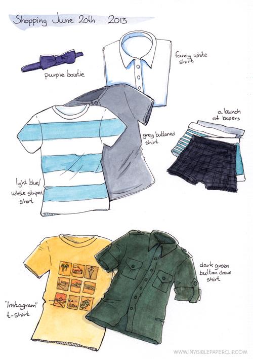 Shopping watercolor
