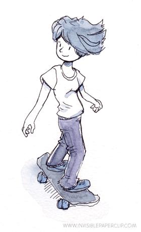Skatergirl Doodle